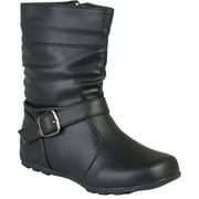 Brinley Co Girls Slouchy Accent Mid-calf Boots