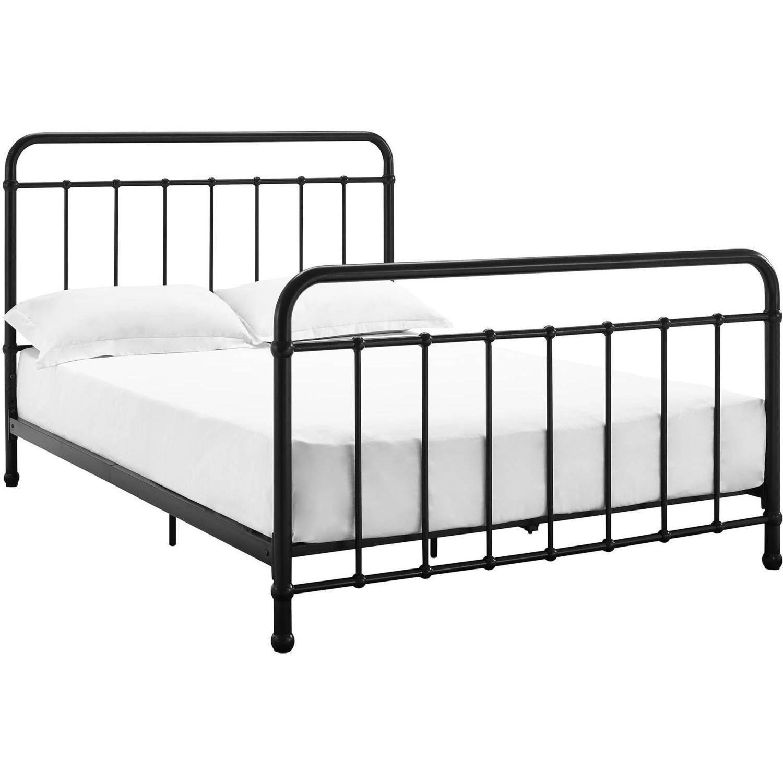 Details about Twin/Full Size Metal Platform Bed Frame & Footboard Kid\'s  Bedroom Furniture Side