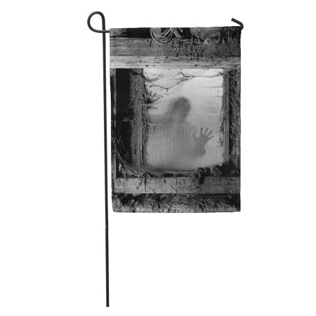 KDAGR Scary of Zombie Outside Window That is Covered Spiderwebs and Filth Halloween Garden Flag Decorative Flag House Banner 28x40 inch](Is Six Flags Halloween Scary)