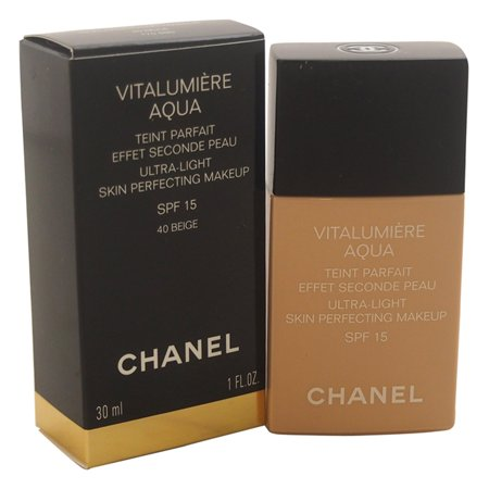 Vitalumiere Aqua Ultra-Light Skin Perfecting Makeup SPF 15 - # 40 Beige by Chanel for Women - 1 oz Makeup