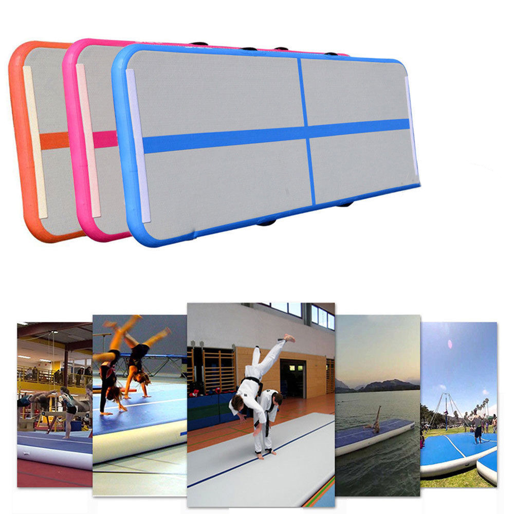 Inflatable Gym Mat Air Floor Tumbling Track Gymnastics Cheerleading Mat Trick Pad