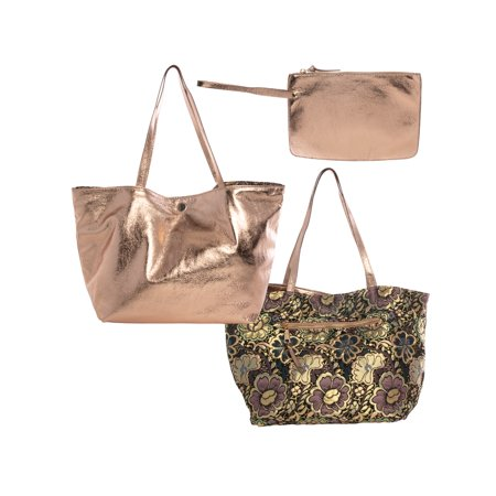 e69373679353f0 Steve Madden Handbags For Women: Large Reversible Tote Bag, Handbag, Purse  with Zipper Clutch Purse, Mini Purse For Makeup Bag - Walmart.com