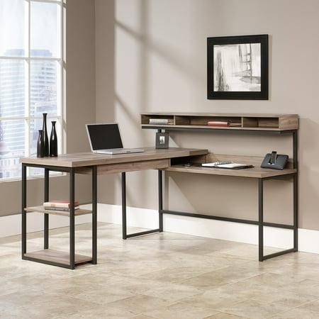Sauder Transit L Shaped Desk Salt Oak
