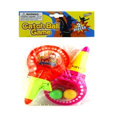 New 503464  2 Pcs 7.25 Catch Ball Game W / 2 Pcs Balls In Pp B (24-Pack) Action Cheap Wholesale Discount Bulk Toys Action Socks