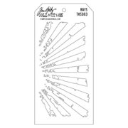 Stampers Anonymous Tim Holtz Layered Stencil 4.125  X8.5   - Rays