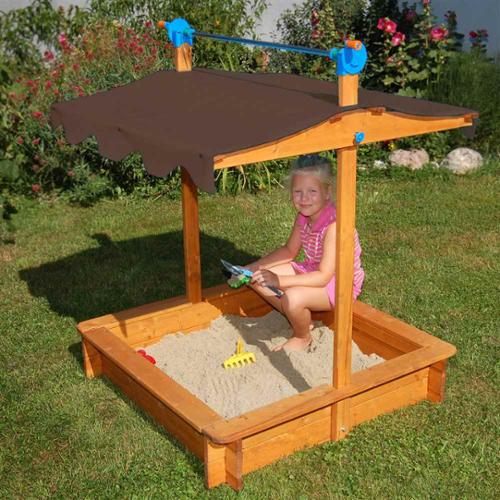 Sandbox with Adjustable Roof