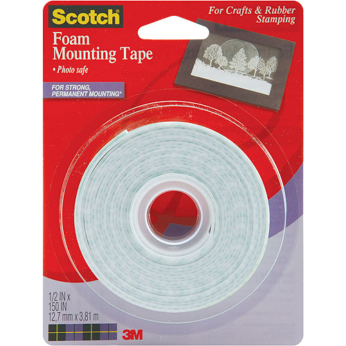 Scotch 4013 1/2-Inch by 150-Inch Mounting Tape Multi-Colored