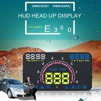 5.8 HD Auto Car HUD Projector Windshield Head Up Display OBD2 Speeding Warning, Windshield Head,Auto Car HUD Projector