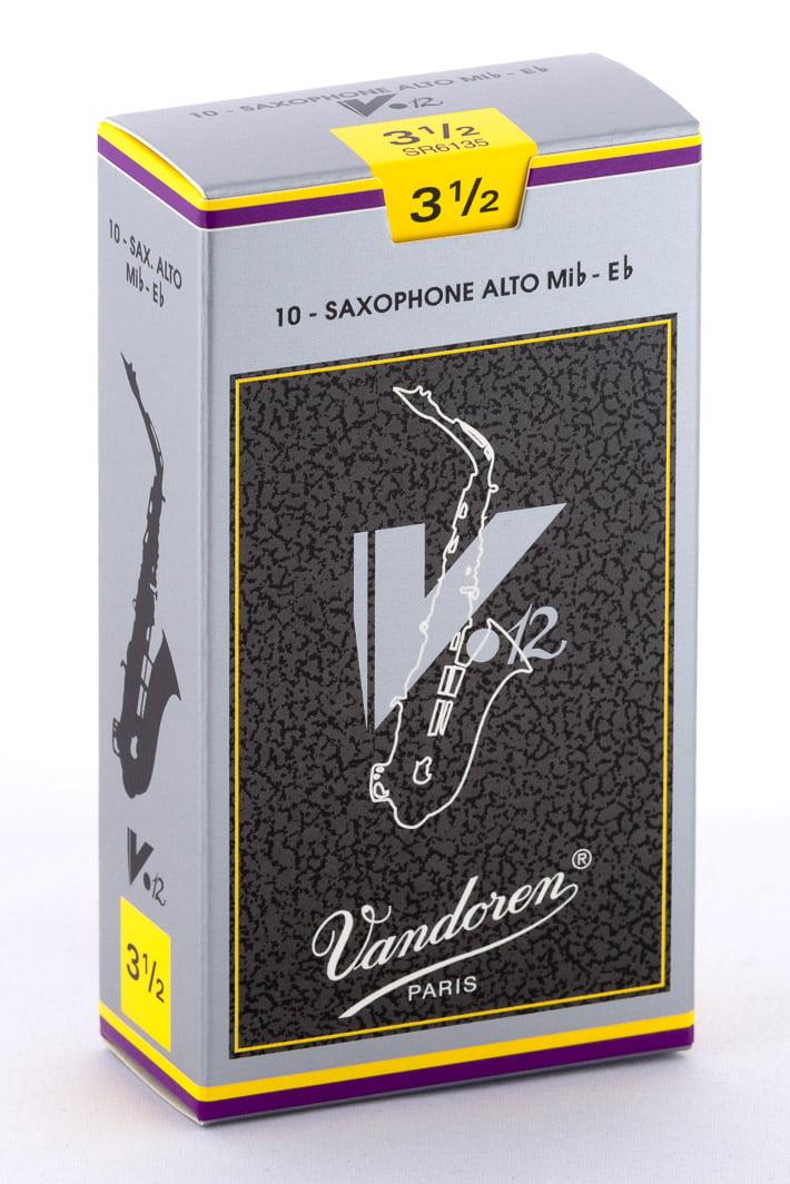 Vandoren Alto Sax V.12 Reeds Strength #3.5; Box of 10 by Vandoren