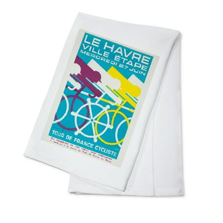 France - Le Havre - Ville etape - Tour de France - (artist: FRO c. 1956) - Vintage Advertisement (100% Cotton Kitchen