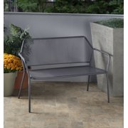 Alfresco Home Martini Iron Garden Bench-Pencil Point