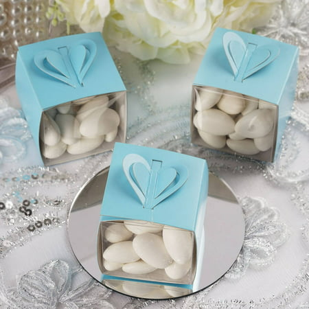 Efavormart White Color Treat Candy Box Wraps For Wedding Event Birthday Party Bridal Shower Anniversary Favor Decor Box -
