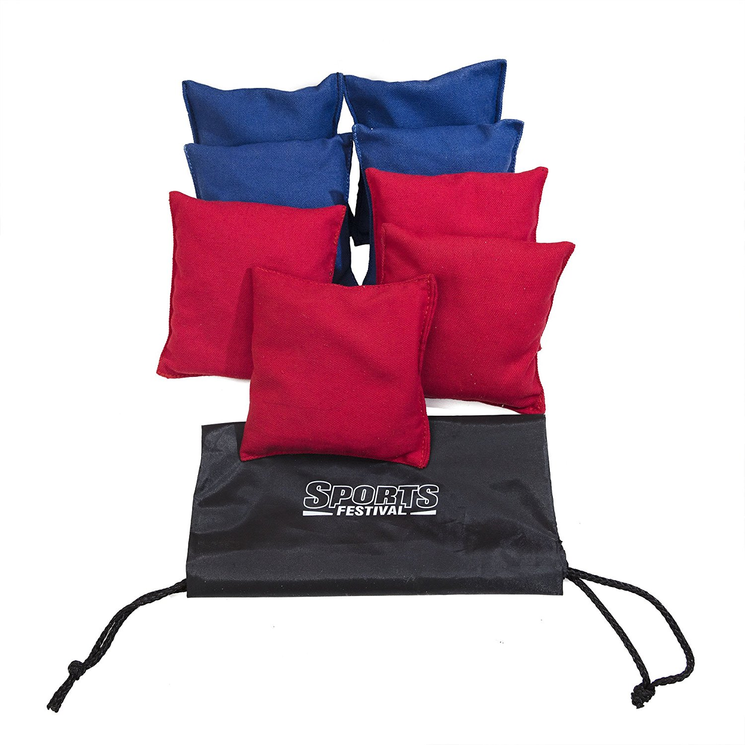 Cornhole Beanbags Replacement Red & Blue by Phelps Group