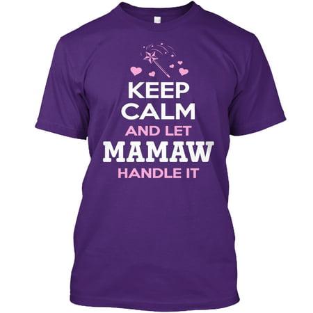 7c8a3b73 Hanes - KEEP CALM MAMAW ~ Front Print Hanes Tagless Tee T-Shirt -  Walmart.com