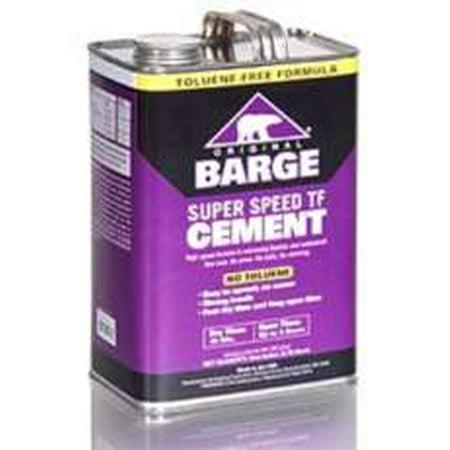 BARGE Original Super Speed TF Cement by Quabaug Corp -1 Gallon- Shoe Glue Toluene - Halloween Barge Chicago