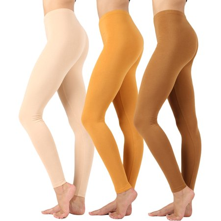 9bea0adbd981ba Women Premium Cotton High Waist Full Length Leggings - Walmart.com