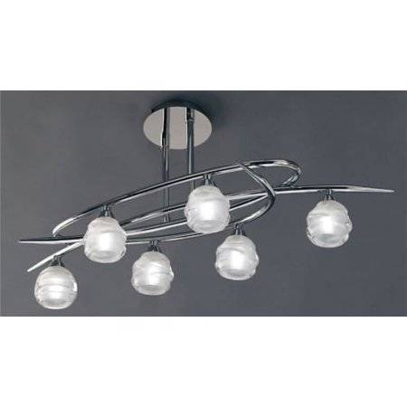Mantra Lighting 1802 Loop 6 Light Semi Flush Ceiling Fixture