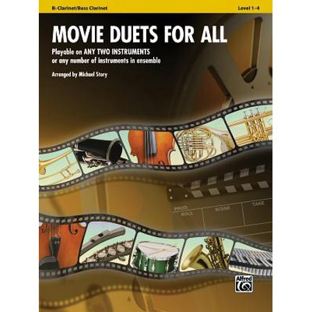 Movie Duets for All: Bb Clarinet/Bass Clarinet, Level 1-4