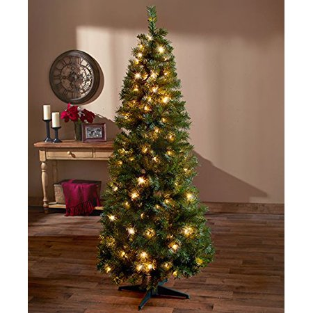6 ft pre lit pop up christmas tree clear lights. Black Bedroom Furniture Sets. Home Design Ideas