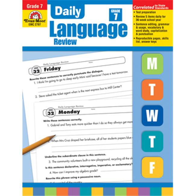 Evan Moor Educational Publishers 2797 Daily Language Review Grade 7