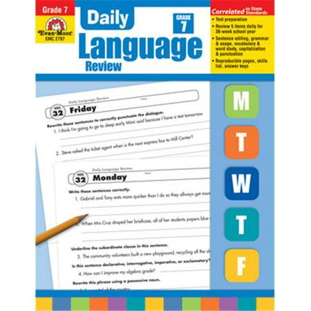 Evan Moor Educational Publishers 2797 Daily Language Review  Grade 7 - image 1 de 1
