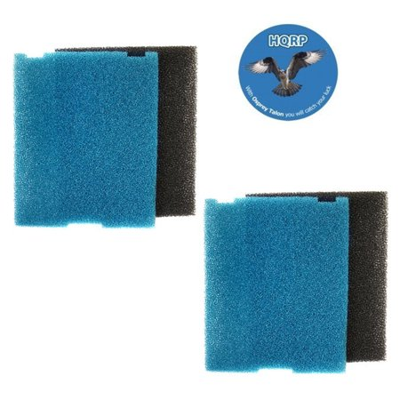 HQRP 2-pack Coarse and Fine Flat Box Filter Foam Pads for Tetra SF1 / #26592 Submersible Pond Filter + HQRP -