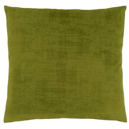 Monarch Brushed Velvet Throw Pillow in Lime Green