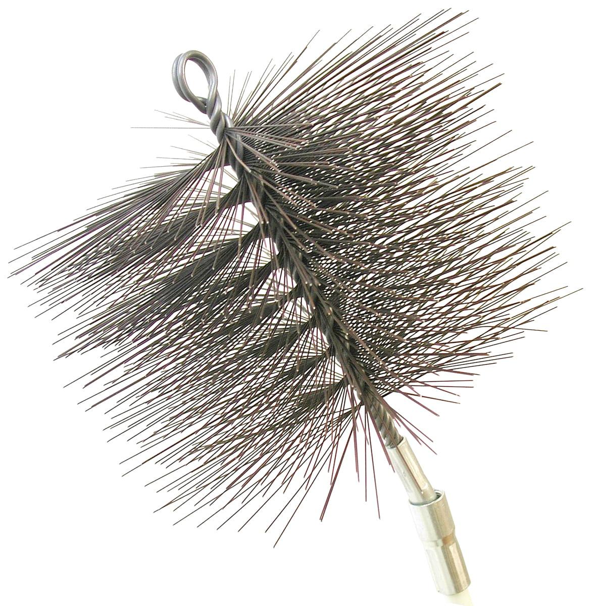 "7"" Round Wire Chimney Brush, 1 4"" NPT by Rutland Products"