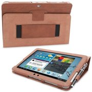 Snugg B00CKPZECW Galaxy Tab 2 10. 1 Case Cover and Flip Stand, Distressed Brown Leather