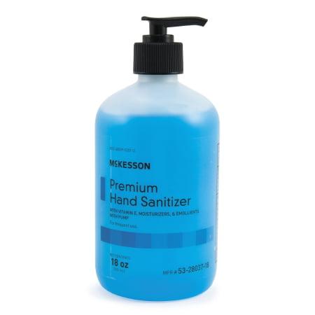 McKesson Premium Hand Sanitizer  18 oz. Ethanol Gel Pump Bottle 1 Count