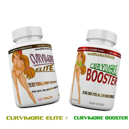 CURVIMORE ELITE COMPLETE STARTER KIT ☀ Advanced Breast Enlargement, Butt Enhancement, Bust Enhancement, Booty Enhancement, Lip Plumping & Skin Tightening Pills – Bigger Breasts, Hips & Glutes. (Best Way To Make Breast Bigger)
