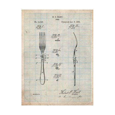 Dinner Fork Patent Print Wall Art By Cole