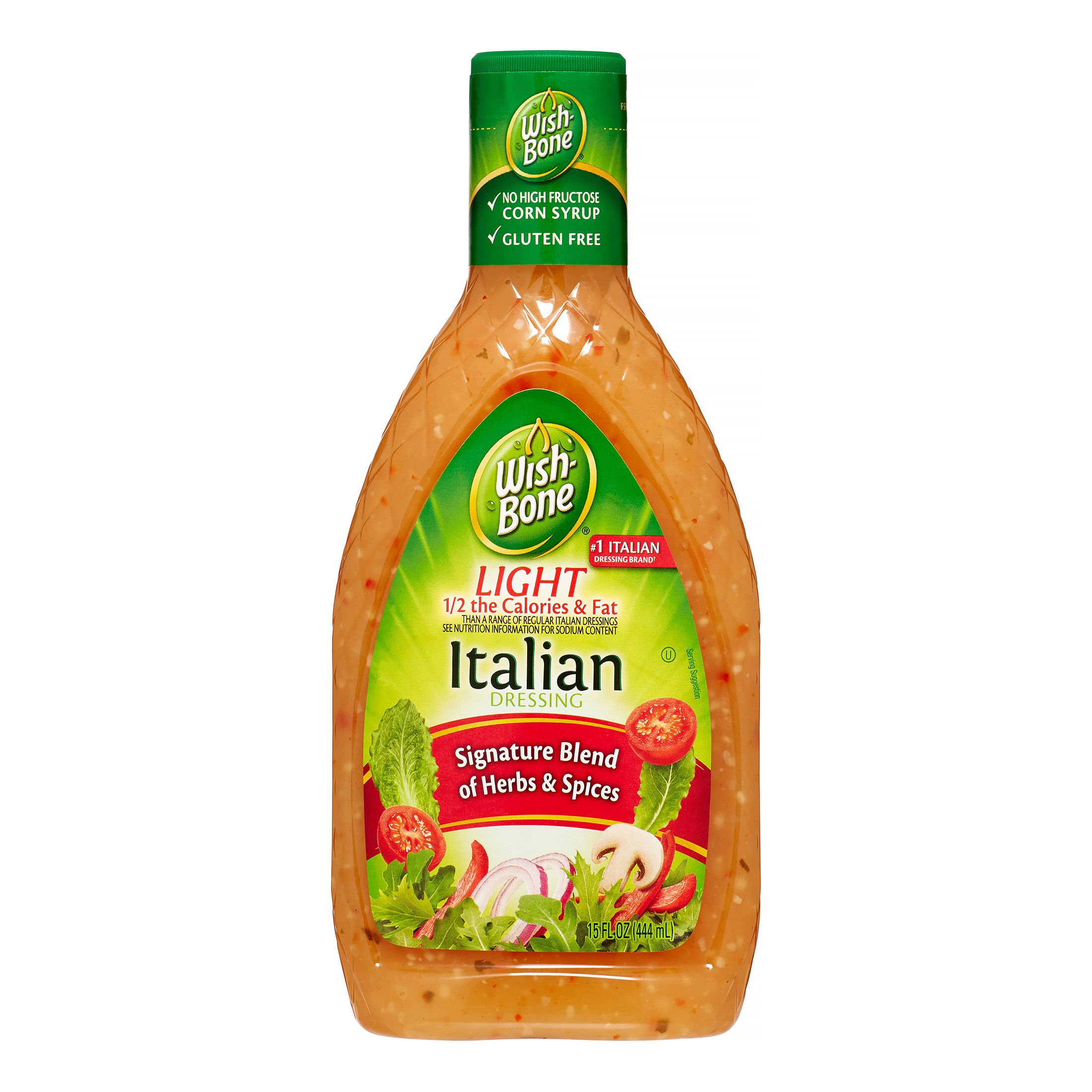 (3 Pack) Wish-Bone Light Salad Dressing, Italian, 15 Fl Oz