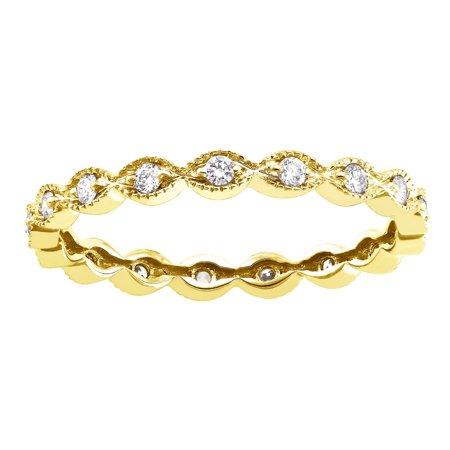 10K Yellow Gold 1/4 carat Diamonds Vintage Eternity Band Ring