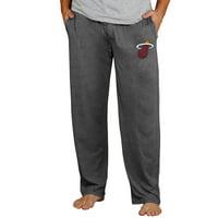 Miami Heat Concepts Sport Quest Knit Pants - Charcoal
