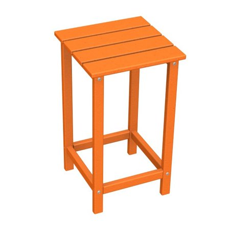 POLYWOOD® Long Island Recycled Plastic 26 in. Outdoor Side Table - Outdoor Plastic Side Table