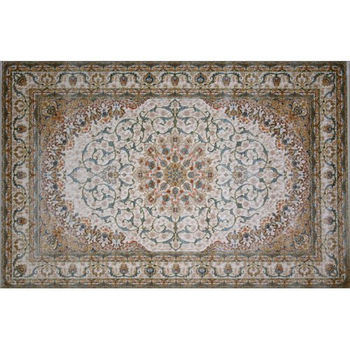 Astoria Grand Mele Hand Look Persian Wool Brown/Pink/Beige Area Rug