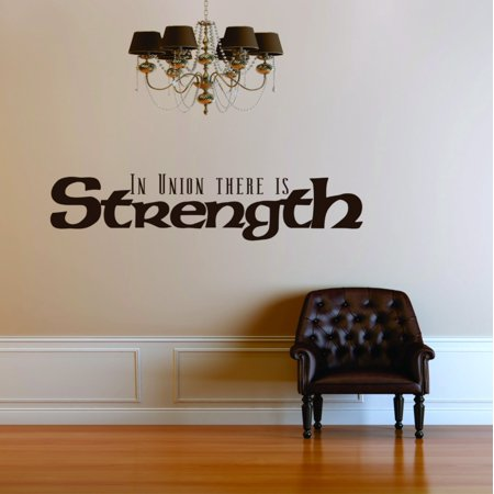 In Union There Is Strength Picture Art Living Room Sticker Vinyl Wall