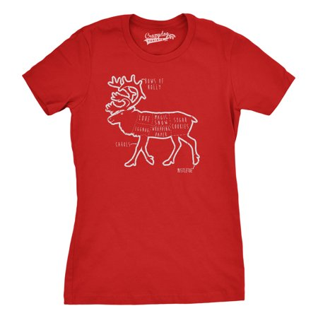 crazy dog funny t shirts womens reindeer parts t shirt funny christmas shirt xmas tee for women walmartcom