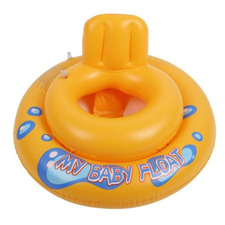 Cartoon Baby Float Thicken PVC Inflatable Circle Dual Air Chamber Pool Seat Float Boat Water Toy Safety Kids Swimming Ring for Christmas - Christmas Float Supplies