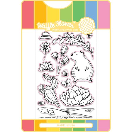 Waffle Flower Stamp & Die Set-Summer Time