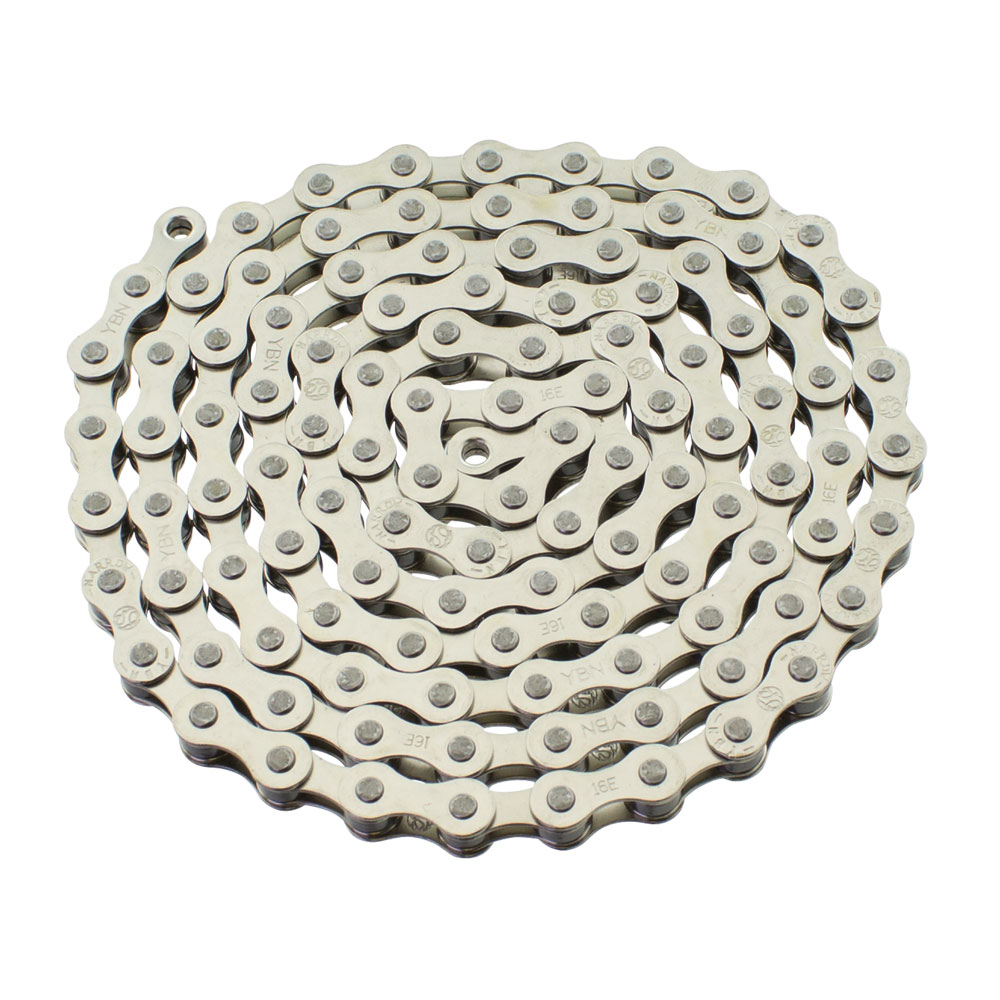 YBN S410 Bicycle Chain (1-Speed, 1/2 x 1/8-Inch, 112L) , Various Colors (Chrome