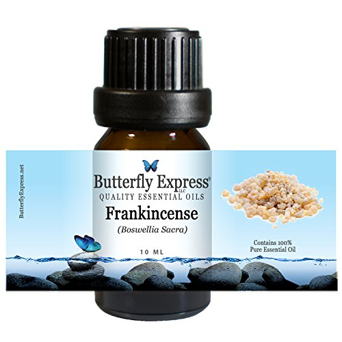 Frankincense (Boswellia sacra) Essential Oil 10ml - 100% Pure - by Butterfly Express