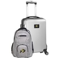 Colorado Buffaloes Deluxe 2-Piece Backpack and Carry-On Set - Silver