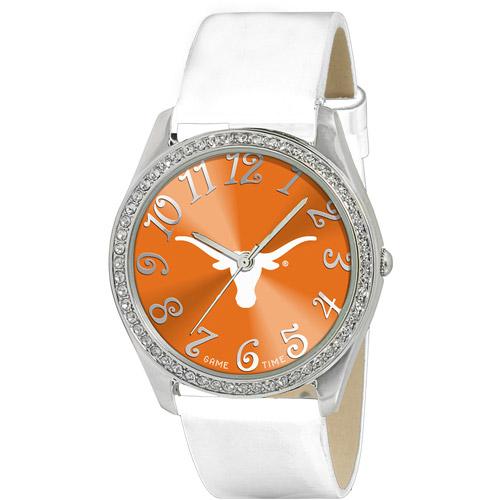Game Time NCAA Women's University of Texas Longhorns Glitz Watch, Silver