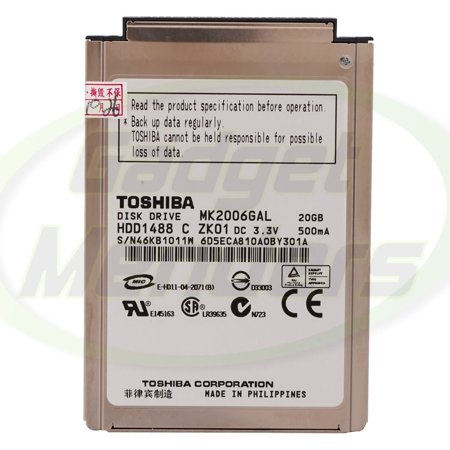 MK2006GAL 20gb Toshiba Hard Disk Drive HDD Replacement For iPod 4th Gen Used