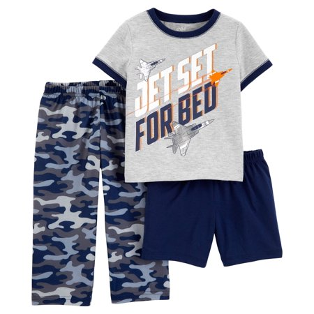 Child of Mine by Carter's Short sleeve t-shirt, shorts, and pants, 3 piece pajama set (toddler boys) (Signature Series Pajamas)