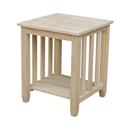 International Concepts Bj6Te Mission Tall End Table, Ready To Finish (Tables International Concepts)