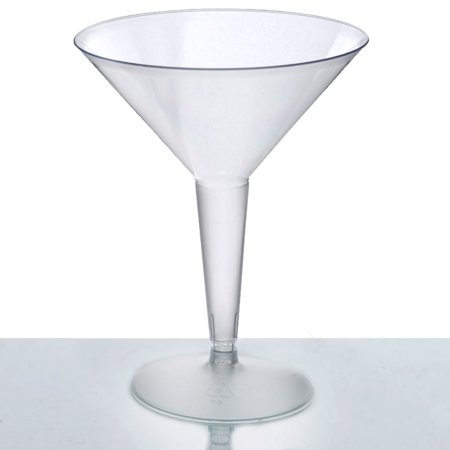 BalsaCircle Clear 10 pcs 8 oz Disposable Plastic Martini Glasses - Wedding Reception Party Buffet Catering Tablewarer