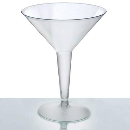 BalsaCircle Clear 10 pcs 8 oz Disposable Plastic Martini Glasses - Wedding Reception Party Buffet Catering - Martini Plastic Glasses Bulk